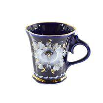Glass Inspiration cobalt paint gold, Gzhel Porcelain factory