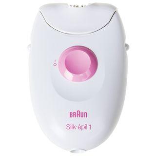 BRAUN 1370 epilator, 20 tweezers, 1 speed, 1 nozzle, net, white/pink