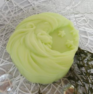 Month - Santa Claus light green - home-made gift soap