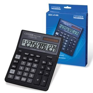 Desktop calculator CITIZEN SDC-414N (204х158 mm), 14 digits, dual power supply