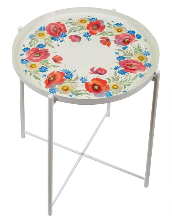 Zhostovo / Serving table with a removable tray, author Pichugina L. 45x53 cm
