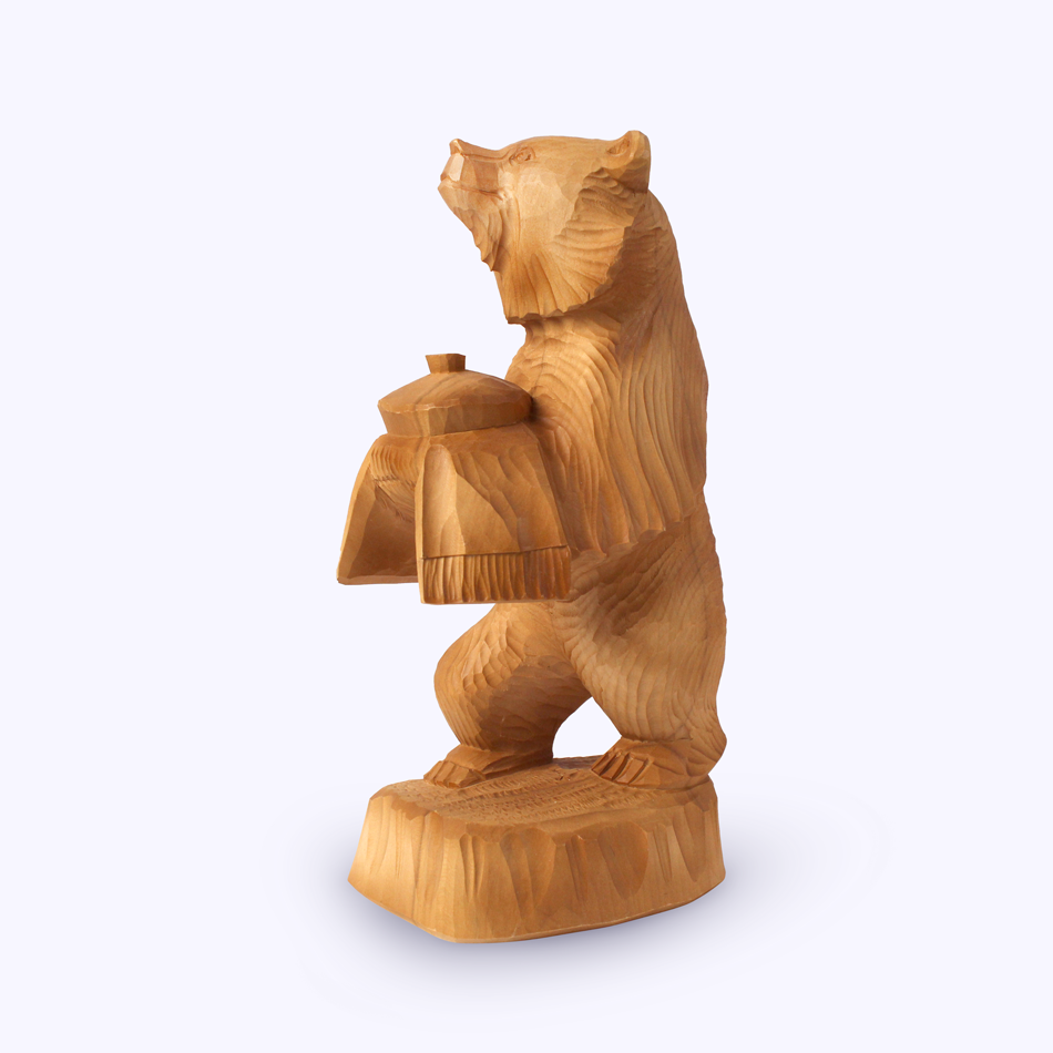 "Bogorodsk toy / Wooden souvenir ""Bread and salt"""