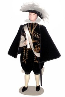 Doll gift. The secular male costume. Spain.