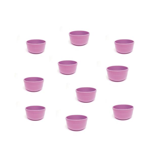 "Vyatka ceramics / Set of containers ""Julia"" 0.2 l, 10 pcs. (Pink)"