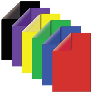 Cardboard A4 colored TINTED, 60 sheets, 6 colors, CUTS, foils, 220 g/m2, BRAUBERG, 210x297 mm