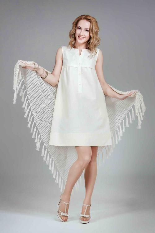 Women's dress tambour lace embroidery