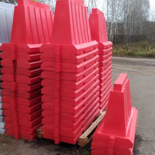 Barriers water filled blocks