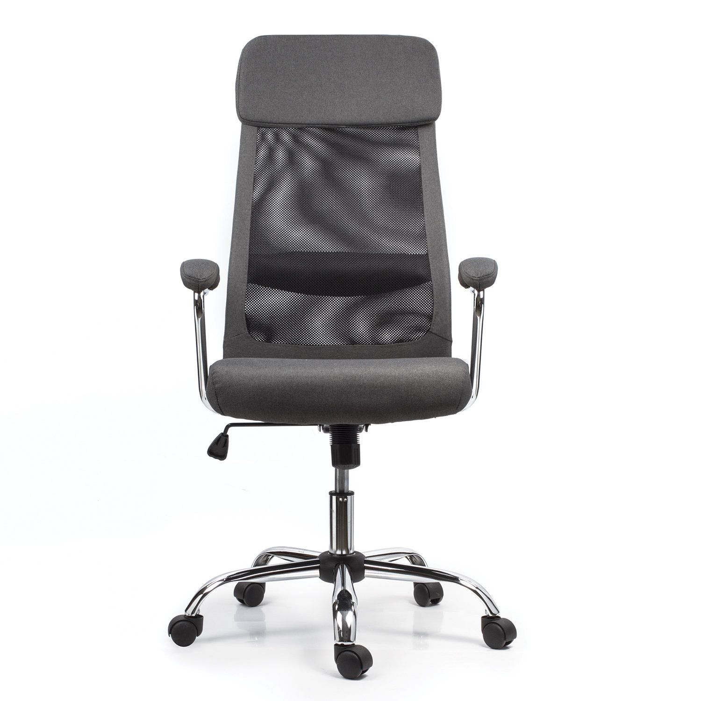 "Office chair BRABIX ""Flight EX-540"", chrome, fabric, mesh, gray"