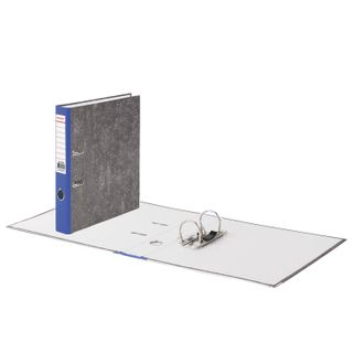 Folder-Registrar BRAUBERG, texture standard, with marble flooring, 50 mm blue spine
