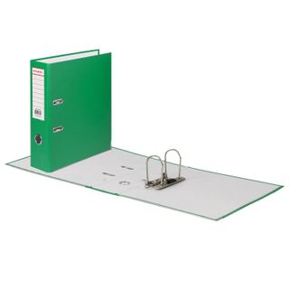 Folder-Registrar BRAUBERG with a coating of PVC, 80 mm area, green (double life)
