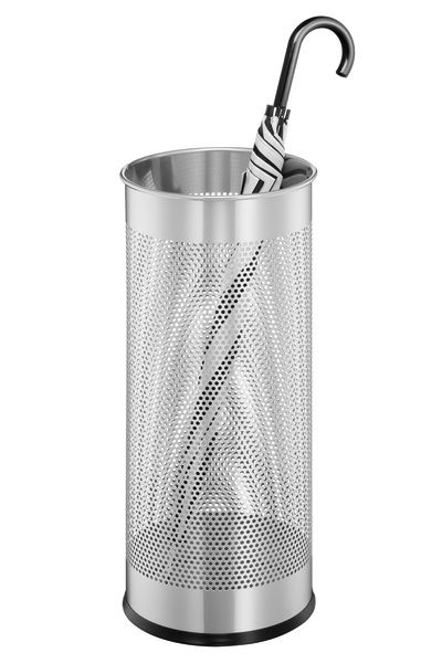 Durable / Perforated umbrella stand, 28.5 liters, 620 x 260 mm, epoxy coated, steel Silver