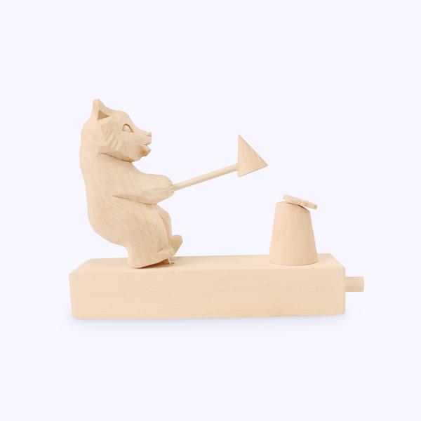 Bogorodsk toy / Wooden souvenir 'Young naturalist'