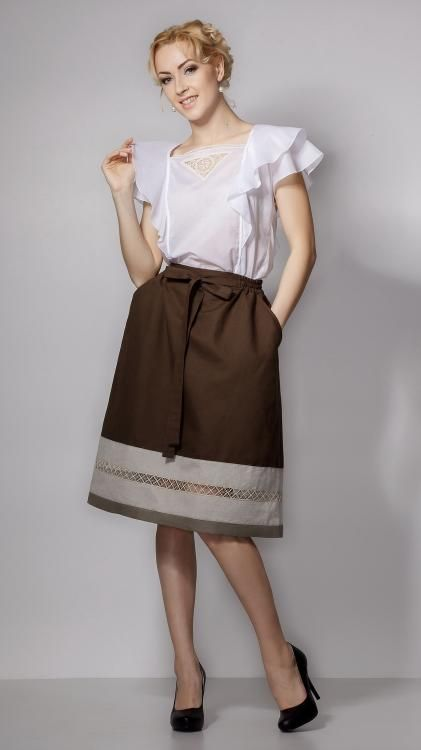 Skirt women's Giselle with pockets