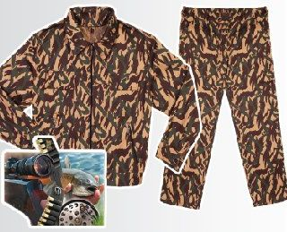 Men's camouflage suit - overalls for protection, hunting, fishing