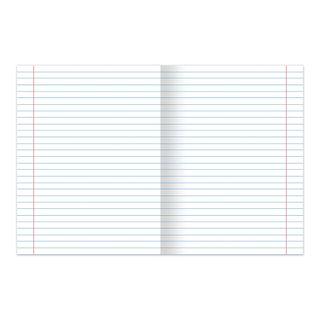 Notebook GREEN cover, 24 sheets HATBER, offset, line fields