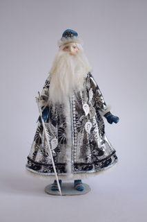 Santa Claus. Souvenir porcelain doll. Frost