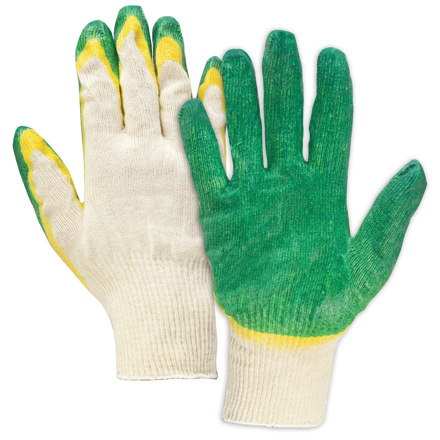LIMA / LUXURY cotton gloves, SET 5 PAIRS, 13 class, 40-42 g, 100 tex, DOUBLE latex coating