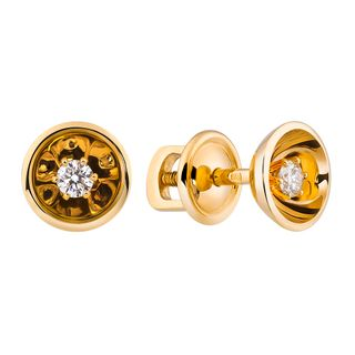 """Earrings in yellow gold collection """"Champagne"""""""