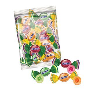 YASHKINO / Niels caramel candies, assorted (cherry, orange, apple), chewable, bag, 1 kg