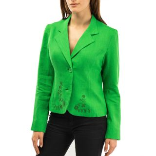 """Jacket women's """"Elegy"""" green with silk embroidery"""