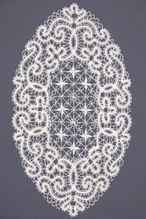 Doily lace oval