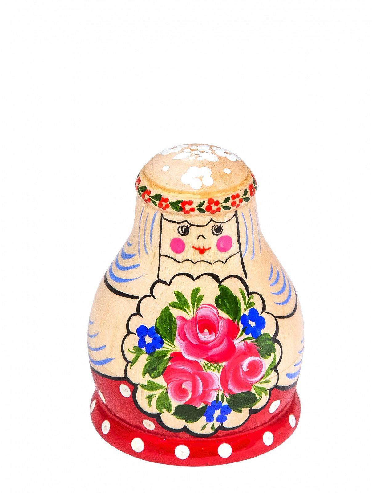 """Khokhloma painting / Matryoshka """"Wedding joke"""" 3 dolls"""