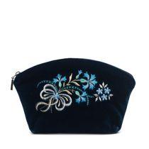 Velvet cosmetic bag 'Cornflowers'