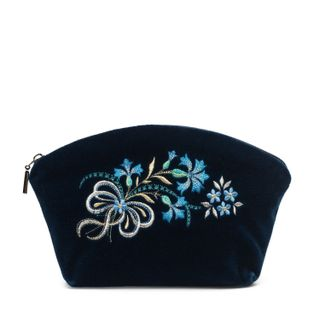 """Velvet cosmetic bag """"Cornflowers"""""""