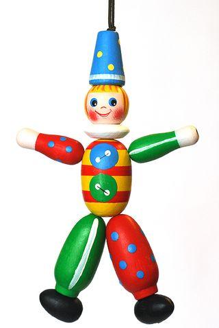 Wooden figurine Clown