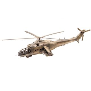 The model of Russian attack helicopter MI-24A 1:72