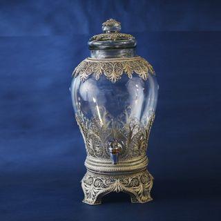 "Kazakovskaya Filigree / Souvenir samovar with a flask ""Beseda"" silvering"