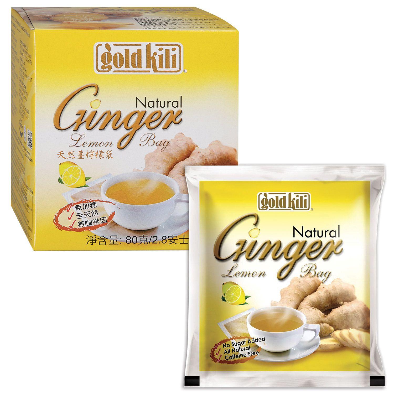 """GOLD KILI / Natural ginger with lemon """"Ginger Lemon"""", 20 sachets, 4 g each"""