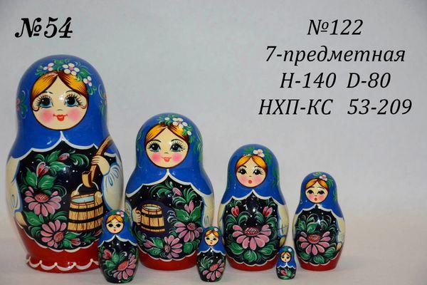 Vyatka souvenir / Matryoshka 7-piece number 122