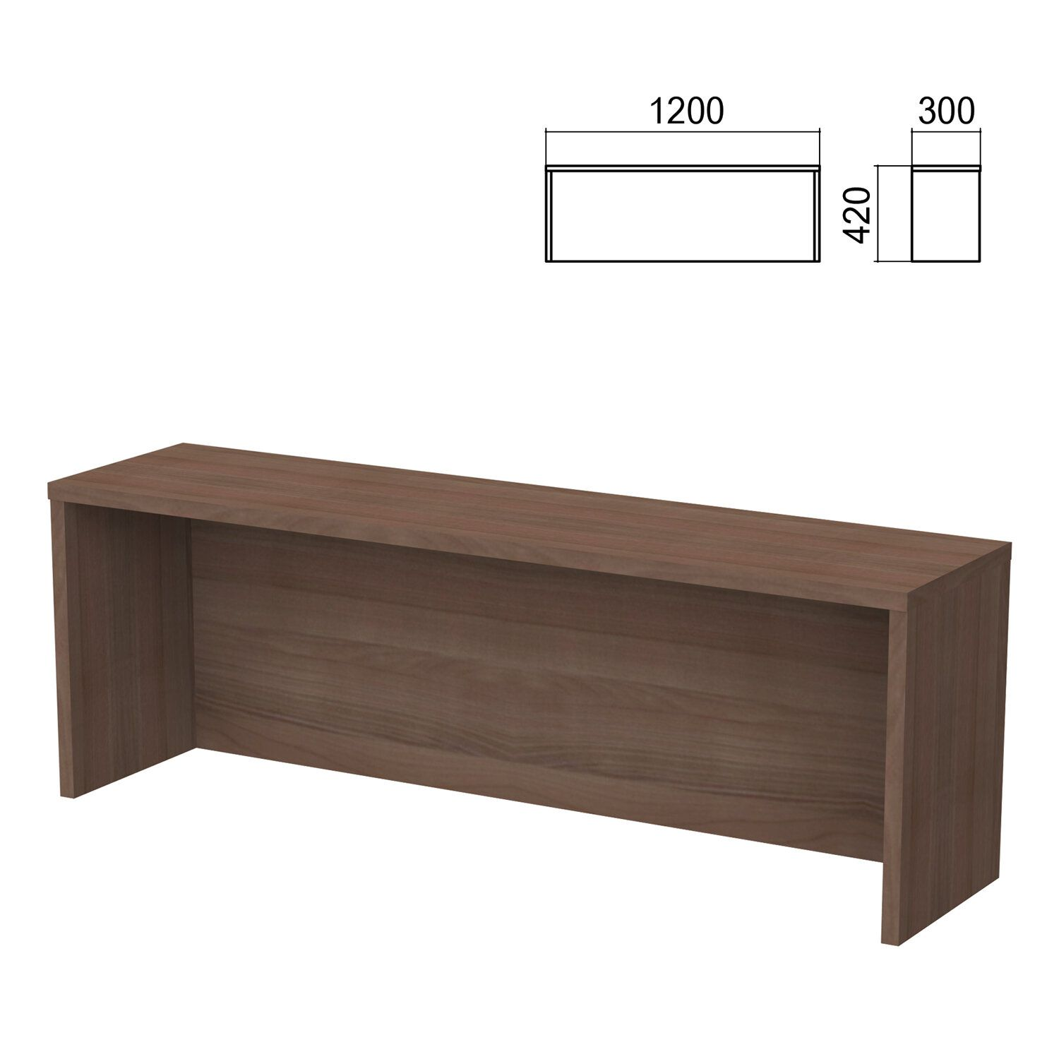Argo table add-on, 1200 mm wide, garbo