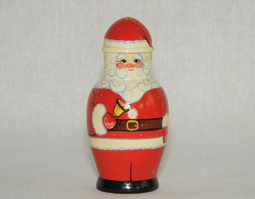 Vyatka souvenir / Matryoshka 'Santa Claus', design No. 2