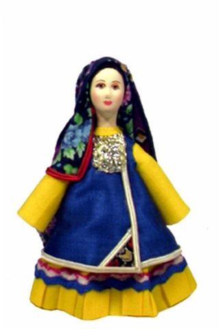 Doll gift. Tatar urban women's costume of the mid-19th century.