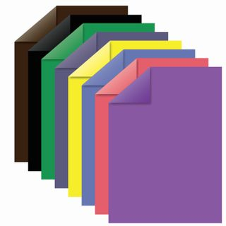 Coloured paper, A4, 2-sided, offset, 16 sheets 8 colors, on a bracket, INLANDIA, 200х280 mm (2 types)