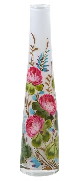 Zhostovo / Small glass vase, author N. Solomatina