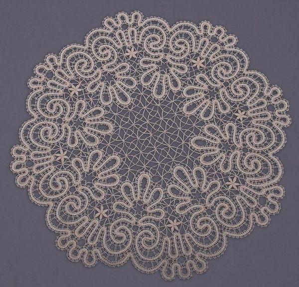 Doily lace round diameter 48 cm