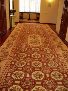 Pile carpets, handmade from natural wool