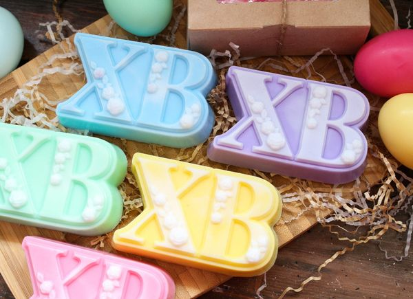 Handmade soap Easter olive XB - mix colors