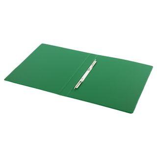 Folder with metal spring binder BRAUBERG, cardboard/PVC, 35 mm, green, up to 290 sheets