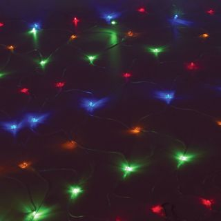 """GOLDEN FAIRY TALE / LED electric garland """"Network"""", 160 lamps, 1.5x1.5 m, multicolor, controller"""