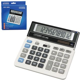 Desktop calculator CITIZEN SDC-868L, SMALL (152х154 mm), 12 digits, dual power supply
