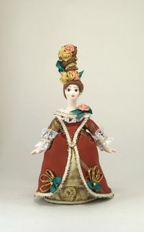 Souvenir doll - Lady in a court costume 18th century Western Europe