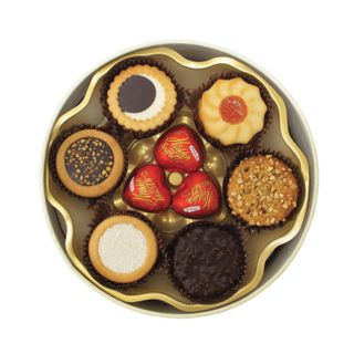 """BISCOTTI / Set of cookies and chocolates """"Santa Bakery"""" in a gift box, 500 g"""