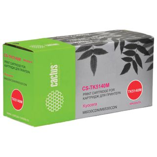 CACTUS Toner Cartridge (CS-TK5140M) for KYOCERA Ecosys M6030cdn / M6530cdn, Magenta, 5000 pages yield