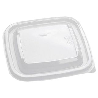 STYROLPLAST / Lids for disposable square containers 126х126х13 mm, SET 50 pcs., PET, transparent (for containers 605116-605118)