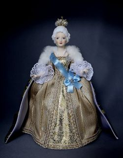 Doll gift porcelain. The Empress Catherine II. The mid-18th century. Russia.