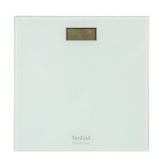 TEFAL / Floor scales PP1061, electronic, weight up to 150 kg, square, glass, white